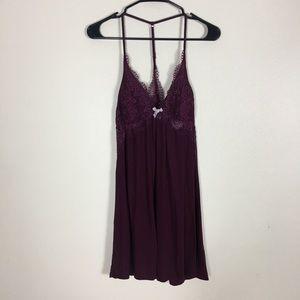 Victoria's Secret Eggplant Lace Lingerie Dress